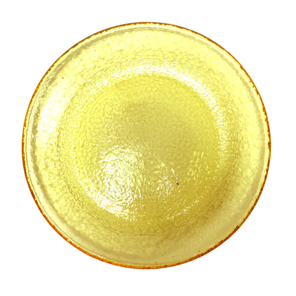Recycled Glass Citrus Dessert/Salad Plate