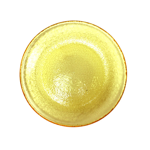 Recycled Glass Citrus Appetizer Plate
