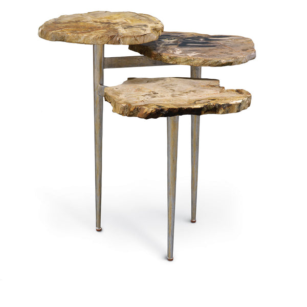 Tiered Petrified Wood Table