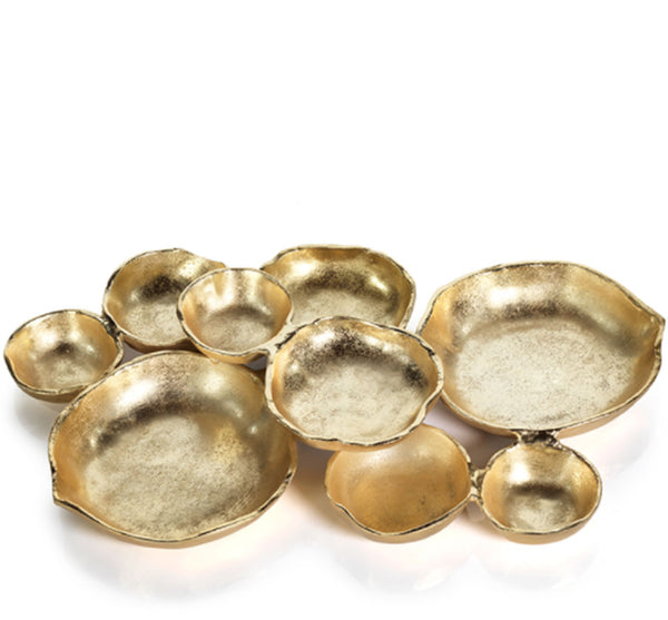 Cluster Of Serving Bowls In Brass