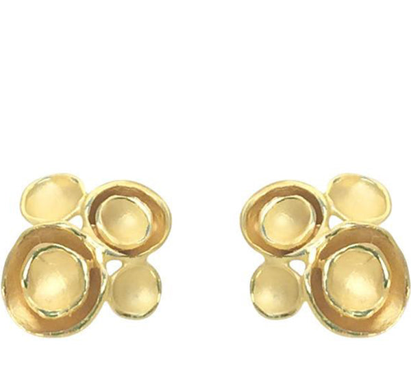 4 POD CLUSTER POST EARRING IN GOLD