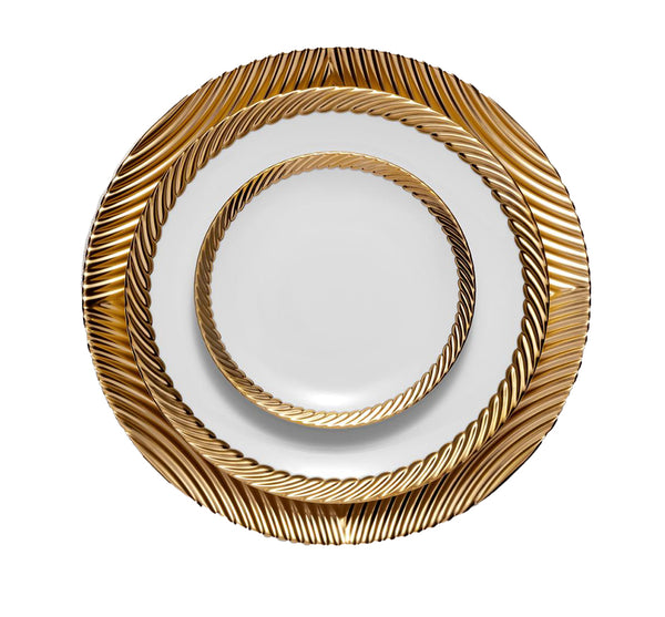 Corde Dinnerware Collection in Gold