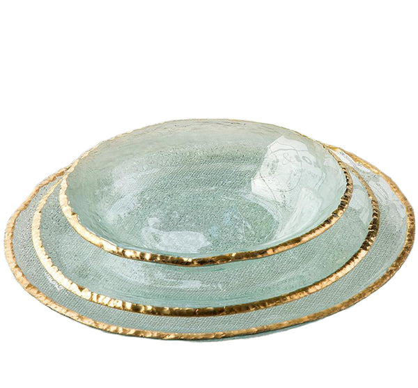 Edgey Dinnerware Collection in Gold