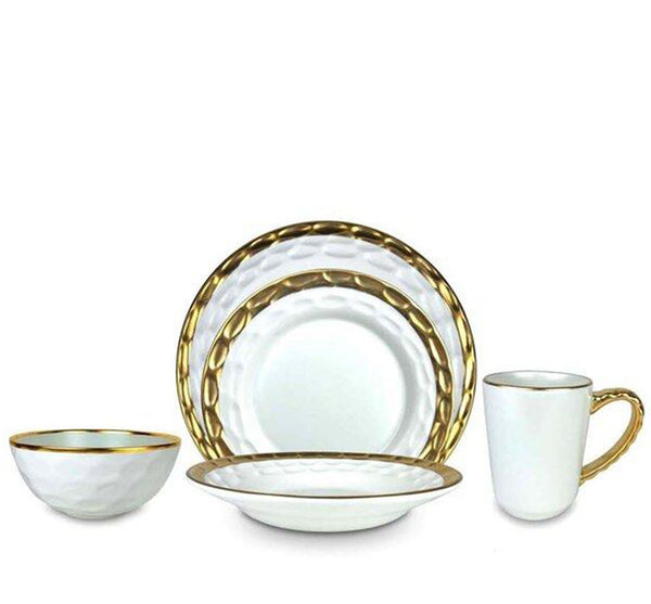 Truro Dinnerware Collection in Gold