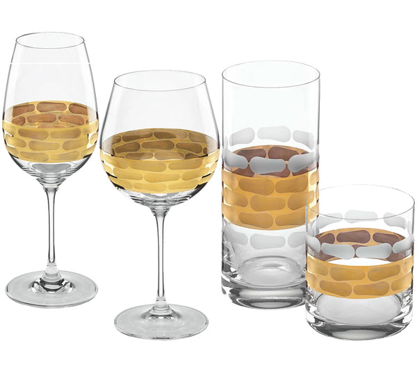 Truro Glass Drinkware Collection in Gold