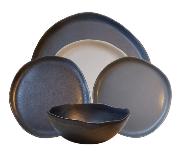 Riverstone Dinnerware Collection In Greys