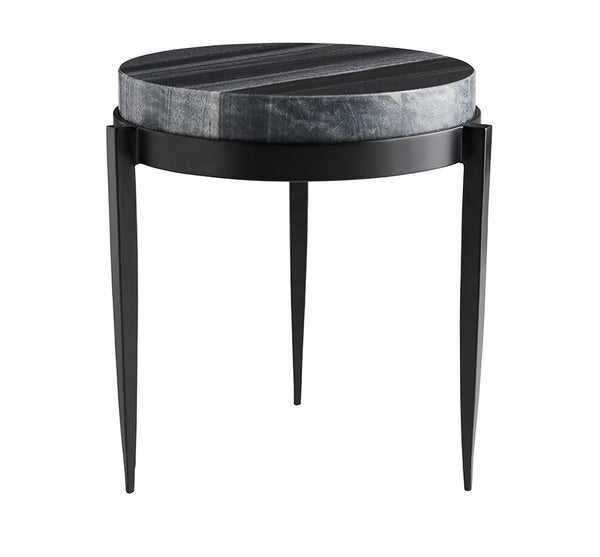 Marble Side Table In Grey