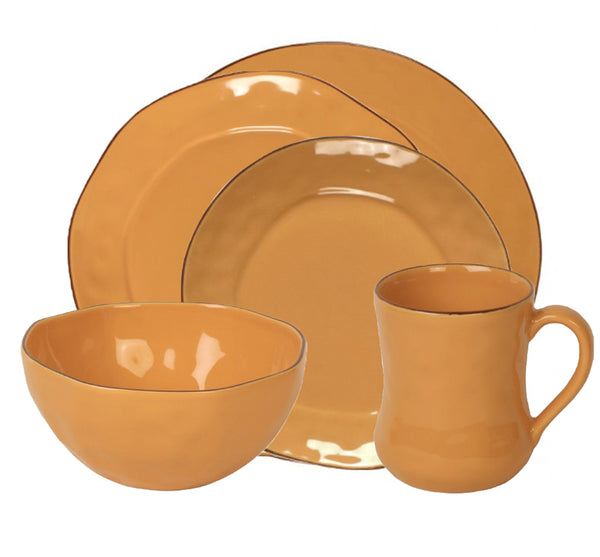 Cantaria Dinnerware Collection in Golden Honey
