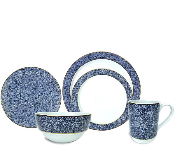 Panthera Dinnerware Collection in Indigo
