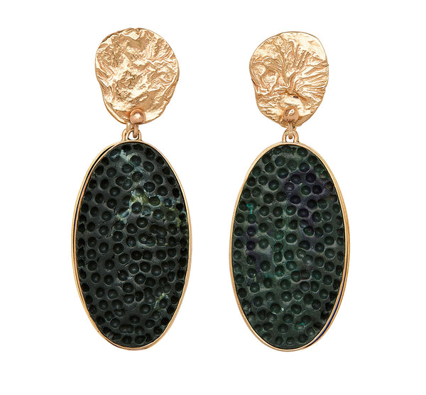 Mojave Bronze Earring In Malachite