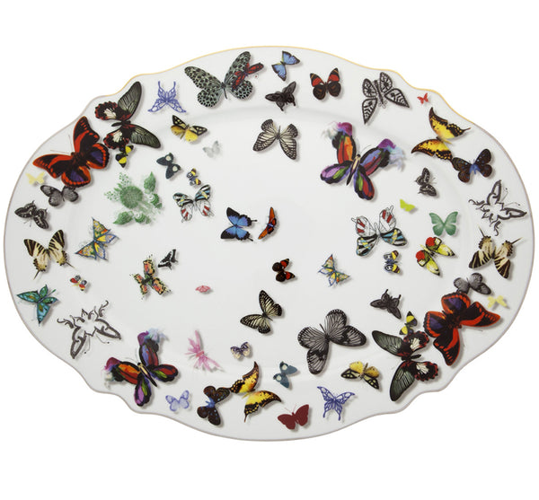 Butterfly Parade Large Platter