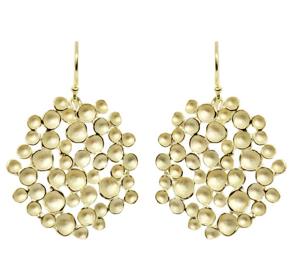 CHAMPAGNE POD EARRINGS LARGE (AVAILABLE IN 2 FINISHES)