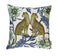 Lovebird Leopards Cotton Pillow 20x20""