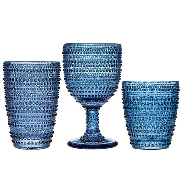 Lumina Glassware Collection In Blue