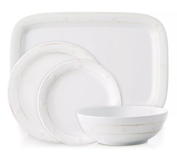 Berry & Thread Melamine Dinnerware Collection in Whitewash