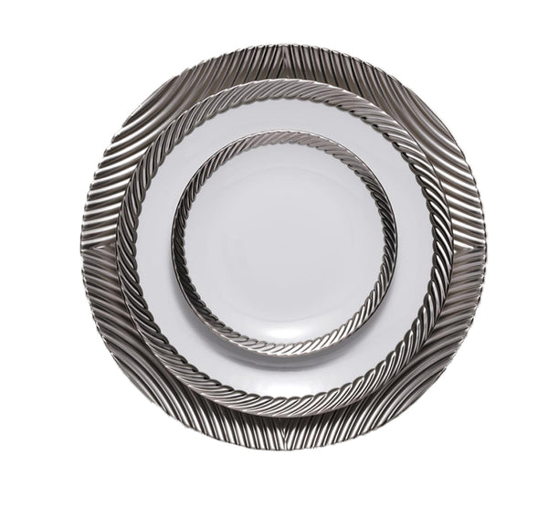 Corde Dinnerware Collection in Platinum
