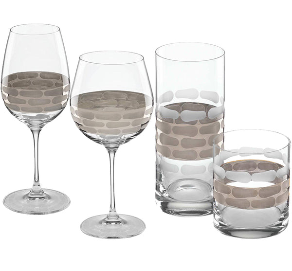 Truro Glass Drinkware Collection in Platinum