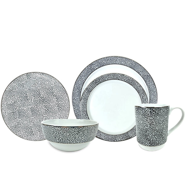 Panthera Dinnerware Collection in Platinum