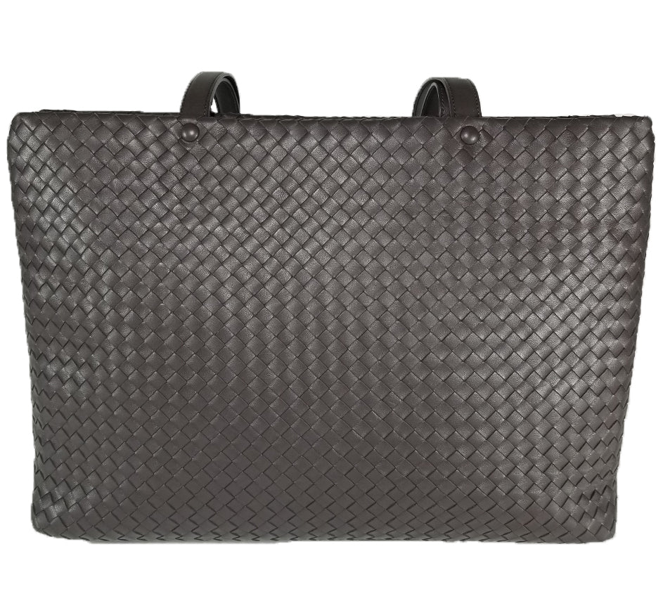 Laptop Bag In Woven Leather Available in 2 colors