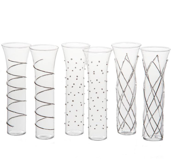 Razzle Stemless Champagne Glasses, Set of 6 (Available in 2 Colors)
