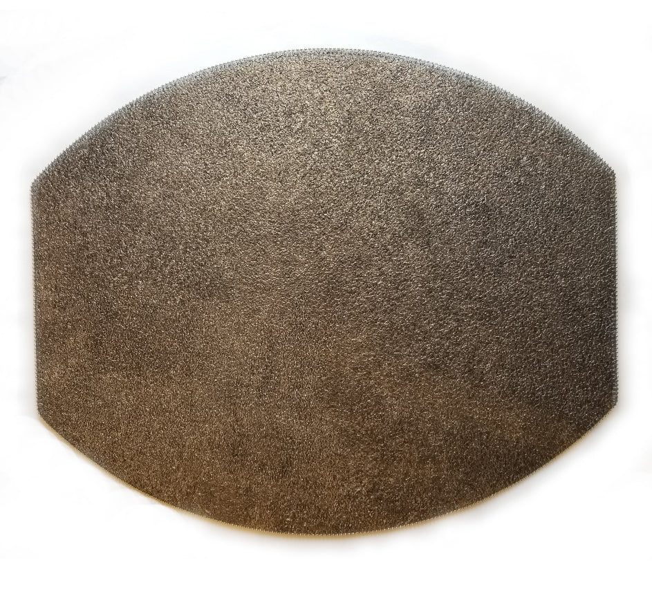 Mazzeo Ellipse Placemat In Smoke