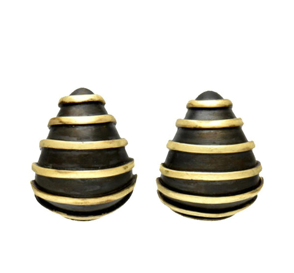 Sharp Drop With Horizontal Stripes Earrings