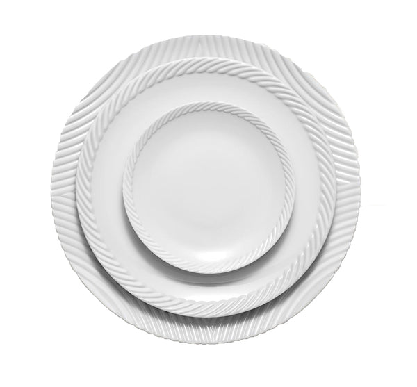 Corde Dinnerware Collection in White