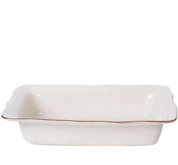 Cantaria Large Rectangular Baker in White