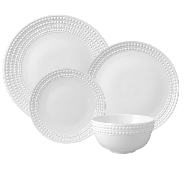 Perlee Dinnerware Collection in White