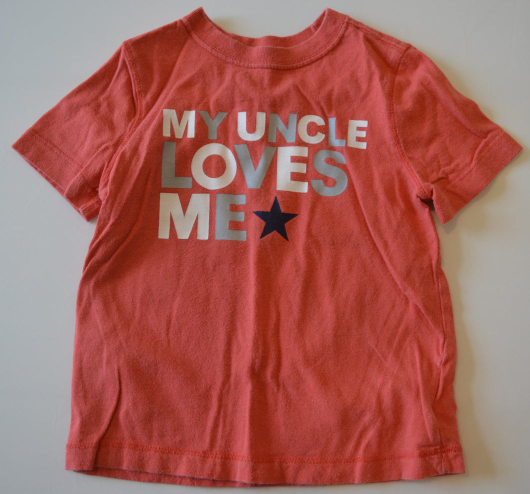 Old Navy Red My Uncle Loves Me T-shirt