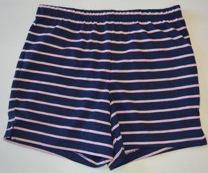 NWOT George Navy and Pink Striped Pajama Shorts