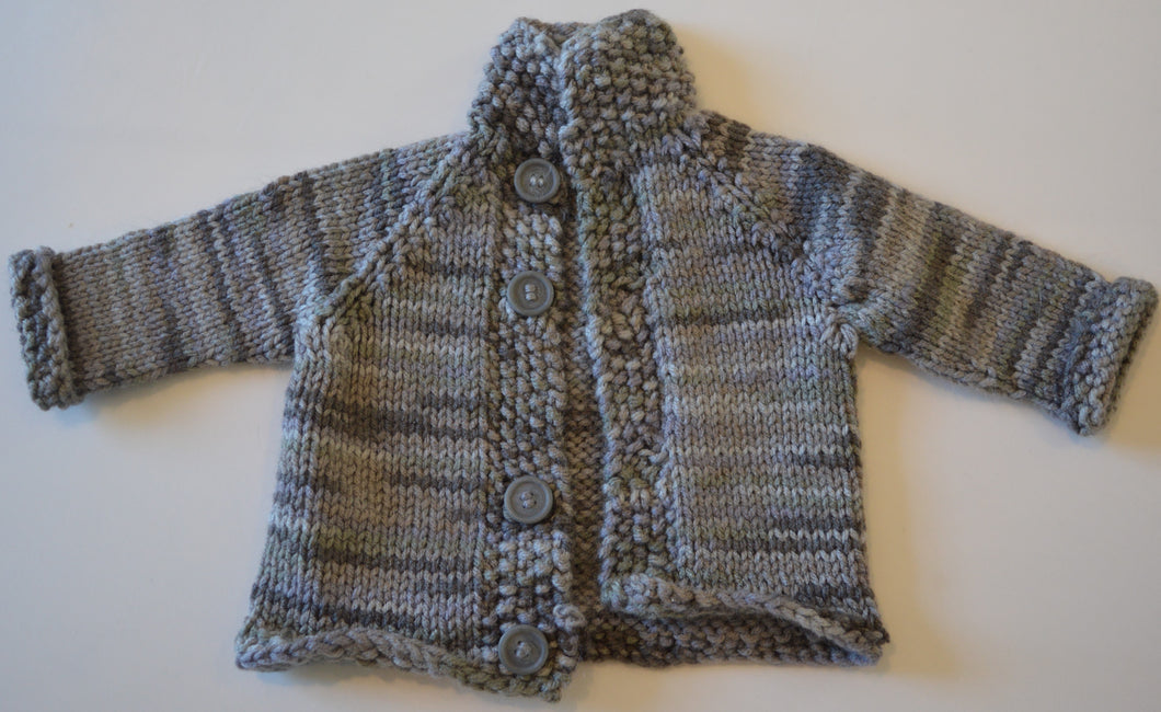 Variant Grey Button-up Knit Cardigan