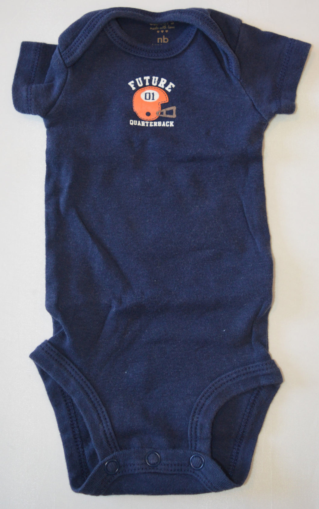 Carter's Navy Future Quarterback Onesie