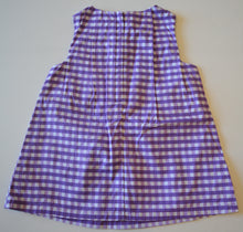 Load image into Gallery viewer, NWT Joe Fresh White and Purple Plaid Dress