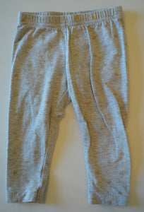 Carter's Grey with Sparkle Gold Hearts Legging