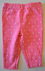 Carter's Pink with White Polka Dots Leggings