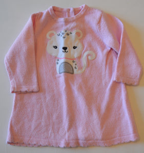 Gymboree Pink with White Leopard Knit Long-Sleeve Dress