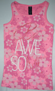 George Pink Be Awesome Tank Top