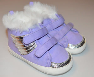 Gymboree Purple With Silver Wings Velcro Shoes