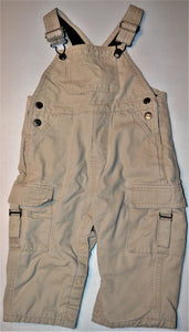 The Children's Place Beige with Black Fleece-lined Overalls
