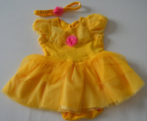 Disney Baby Belle Onesie Dress with Matching Headband