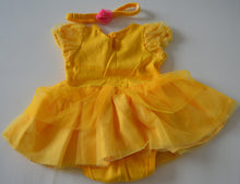 Load image into Gallery viewer, Disney Baby Belle Onesie Dress with Matching Headband