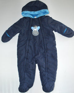 George Blue Zebra Snowsuit