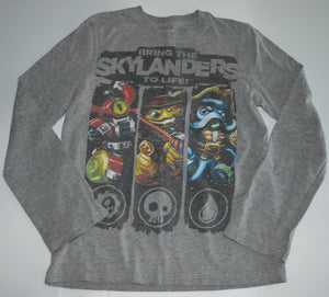 Skylanders Grey Bring the Skylander s to Life Long-sleeve Shirt