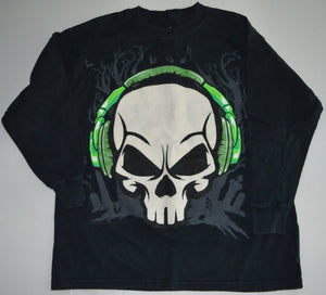 Audio Council Black Skull Long-sleeve Shirt