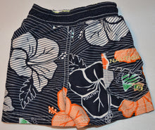 Load image into Gallery viewer, Nautica Navy with White and Orange Hibiscus Swim Shorts