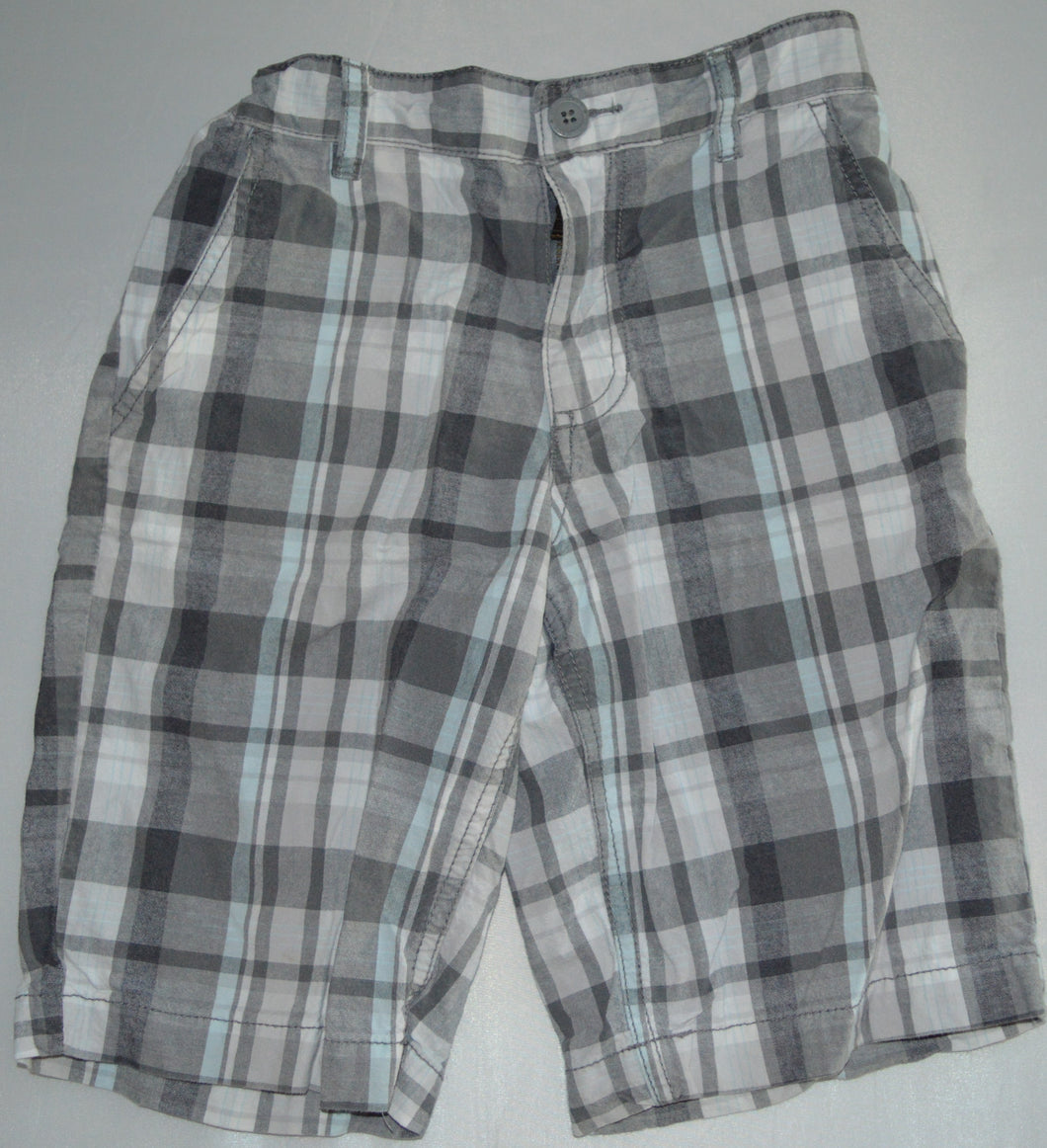 Old Navy Grey and Blue Plaid Shorts