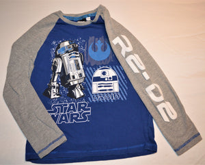 Star Wars Blue and Grey R2-D2 Long-sleeve Shirt