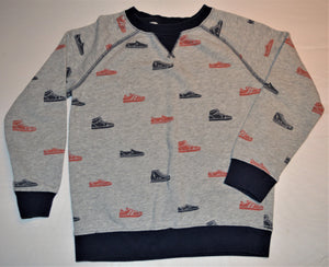 Gymboree Grey with Blue and Red Shoe Sweater