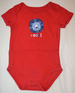 Pekkle Red with Blue Lion Roar! Onesie